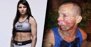شخص حاول سرقه بطلة مصارعه UFC بالبرازيل