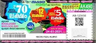 24-03-2021 Akshaya kerala lottery result,kerala lottery result today 24-03-21,Akshaya lottery AK-490,kerala todays lottery result live