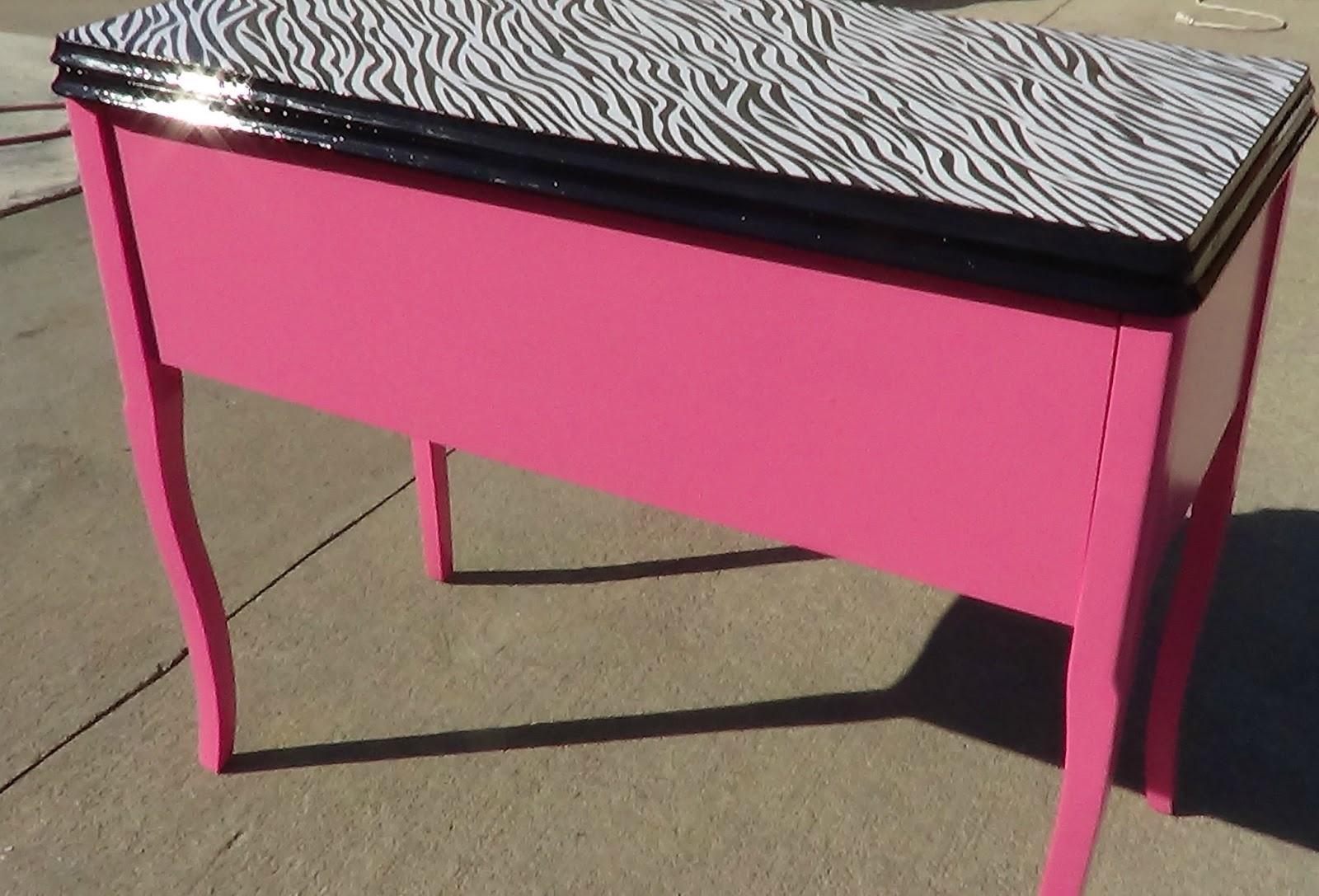 Thats Not JunkRefurbished Recycled Furniture Hot Pink