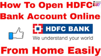 hdfc online account opening zero balance