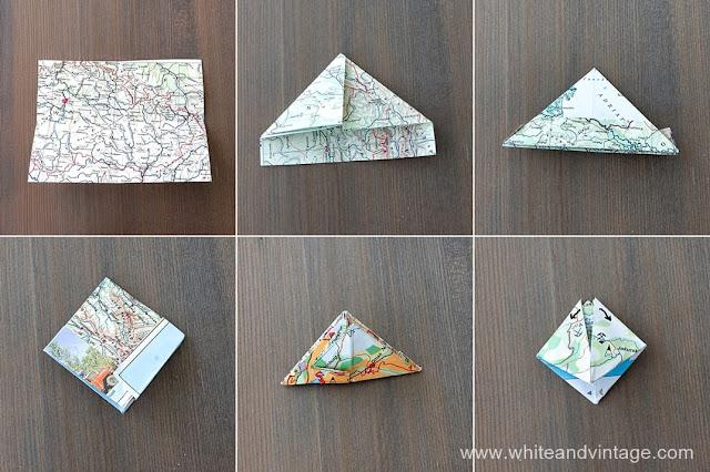 Papierschiffchen Falten - Anleitung