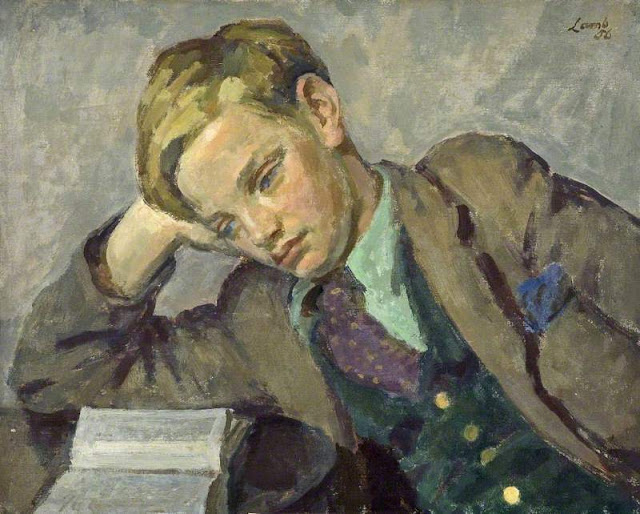 Boy Reading (1956) Henry Lamb (British, 1883-1960) Oil on canvas 39.3 x 49.6 cm.
