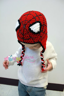 Spiderman Crochet Hat Earflap Beanie