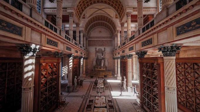 Αλεξάνδρεια :Μουσείον, το αρχαιότερο Πανεπιστήμιο με αρχαιολογικά ευρήματα .