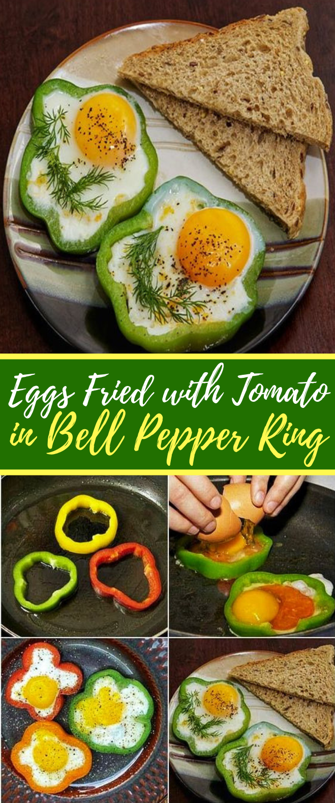 Eggs Fried with Tomato in Bell Pepper Ring #healthy #breakfast