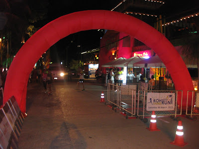 First Koh Samui Midnight Run, start and finish