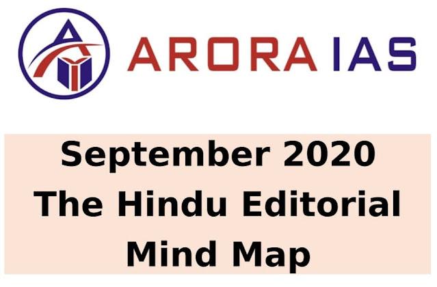 Arora IAS The Hindu Editorial Mind Map (September 2020) : For UPSC Exam PDF Book