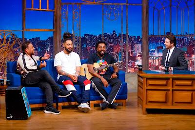 Clovis, Michel e Alex com Danilo (Crédito: Gabriel Cardoso/SBT)