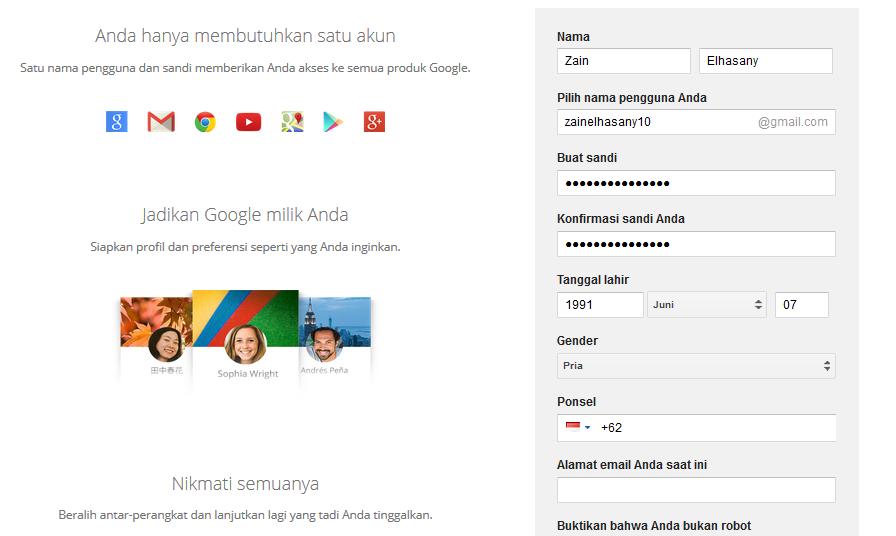 Membuat Email Baru Di Gmail Gratis