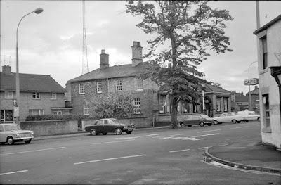 A side view of the original Brigg police station on Wrawby Street, taken by Ken Fisher in the early 1970s. Picture on Nigel Fisher's Brigg Blog