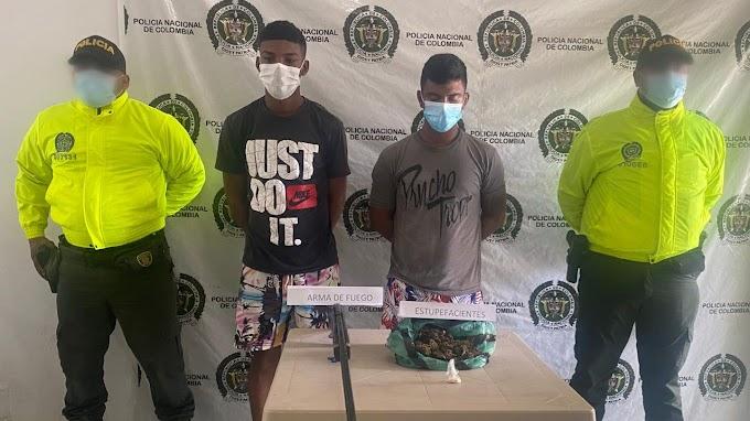 Allanamientos de la policía en Aracataca, dejan dos presuntos expendedores de drogas capturados