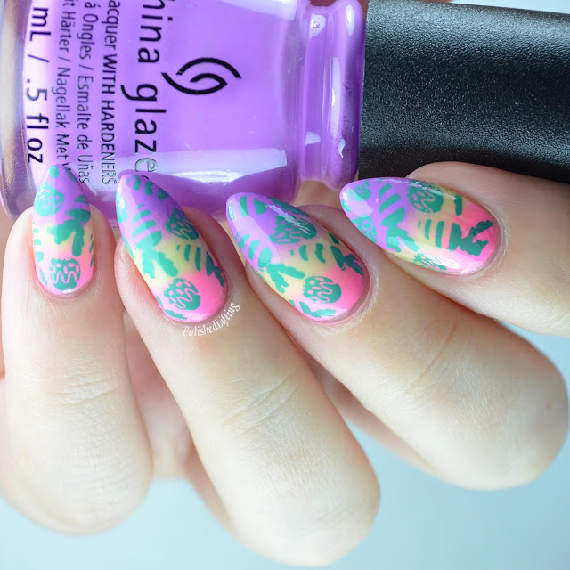 Easter nail art manicure
