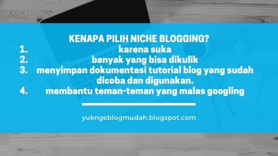 memilih niche blogging