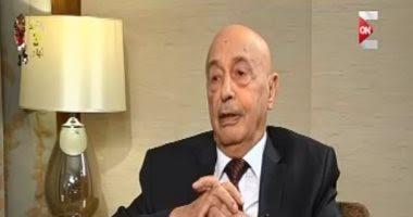 عقب لقاء رئيس البرلمان الليبي برئيس البرلمان العربي  المستشار/عقيلة صالح رئيس البرلمان الليبي في حوار خاص