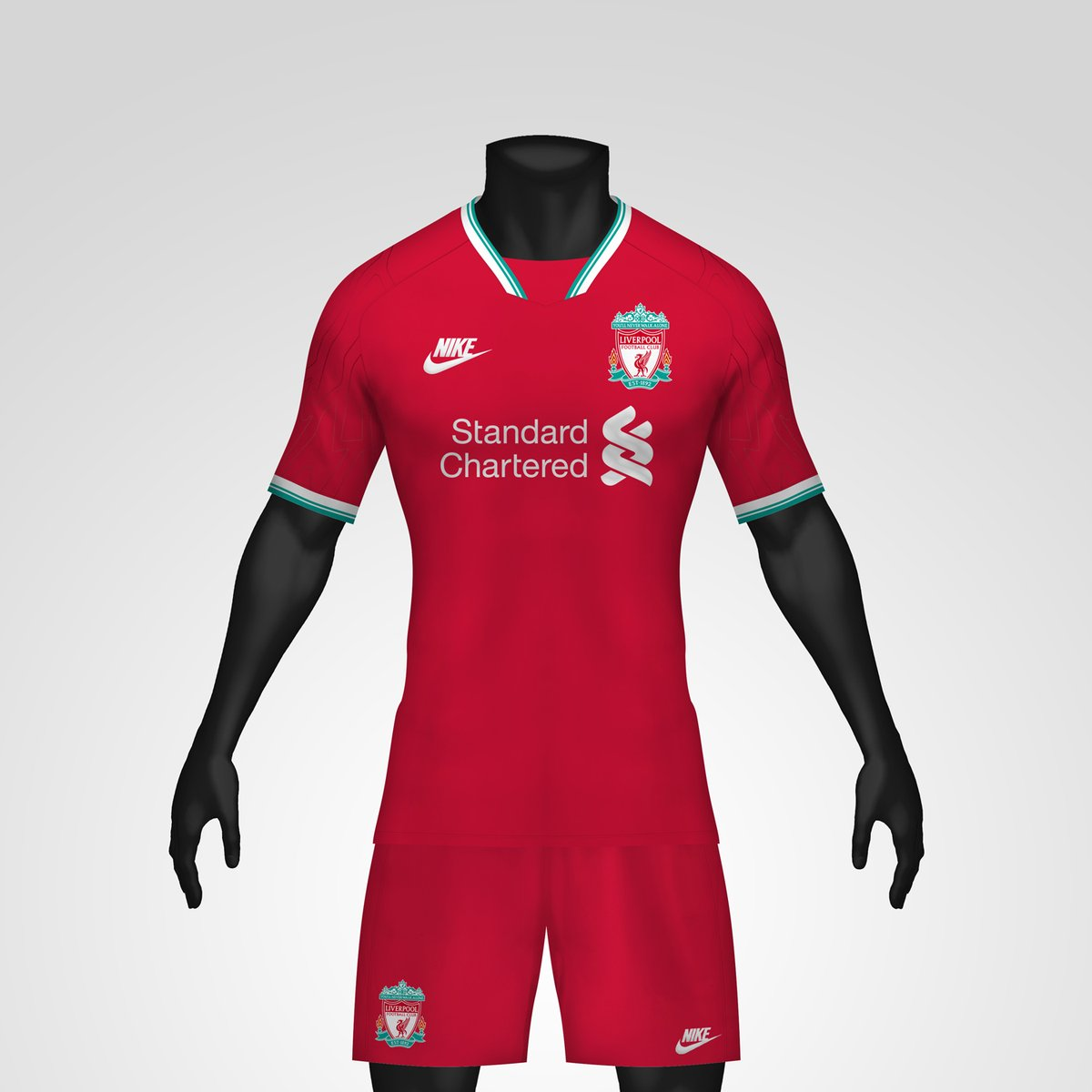 detailed look ad50f 31bec 1990s-Inspired Nike Liverpool 20-21 Concept Home Kit By ...