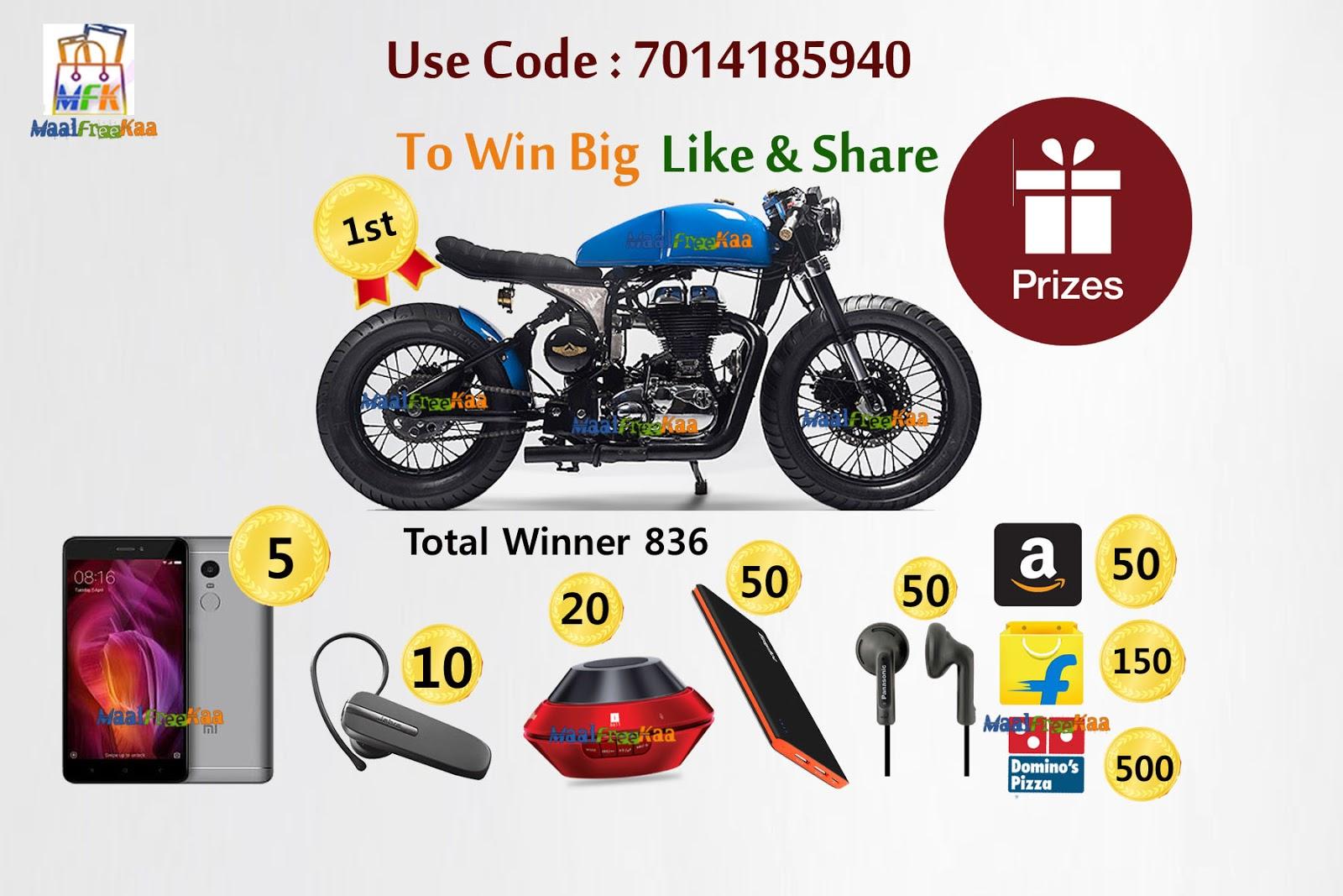 Free bike giveaways
