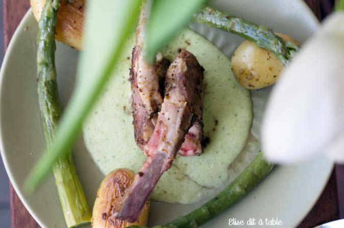recette côtes d'agneau sauce crème à l'ail