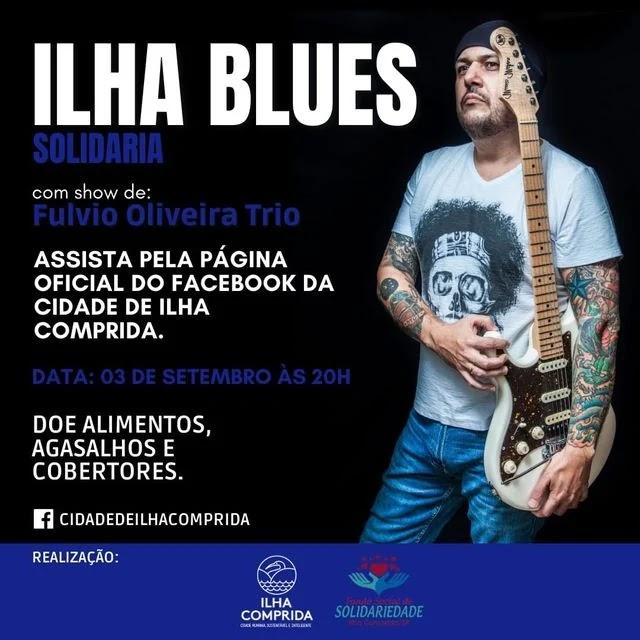 Com show de Fúlvio Oliveira Trio, Ilha Blues Solidário com transmissão ao vivo pelo Youtube e Facebook