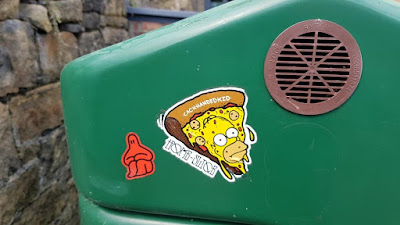 Homer Simpson sticker by the Cack Handed Kid in Newcastle