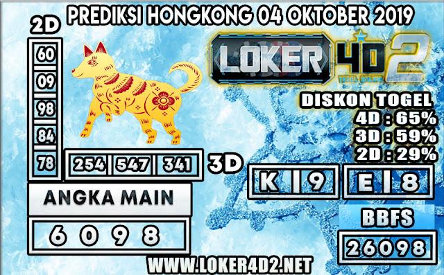 PREDIKSI TOGEL HONGKONG POOLS LOKER4D2 04 OKTOBER 2019