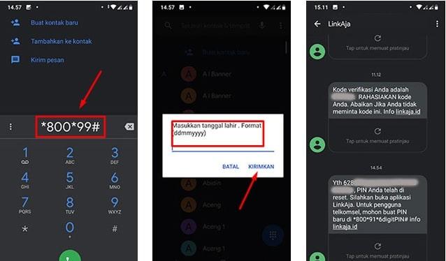 Cara Reset PIN LinKAja untuk pelanggan Kartu Telkomsel