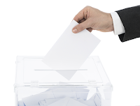Image of transparent ballot box to illustrate election transparency.