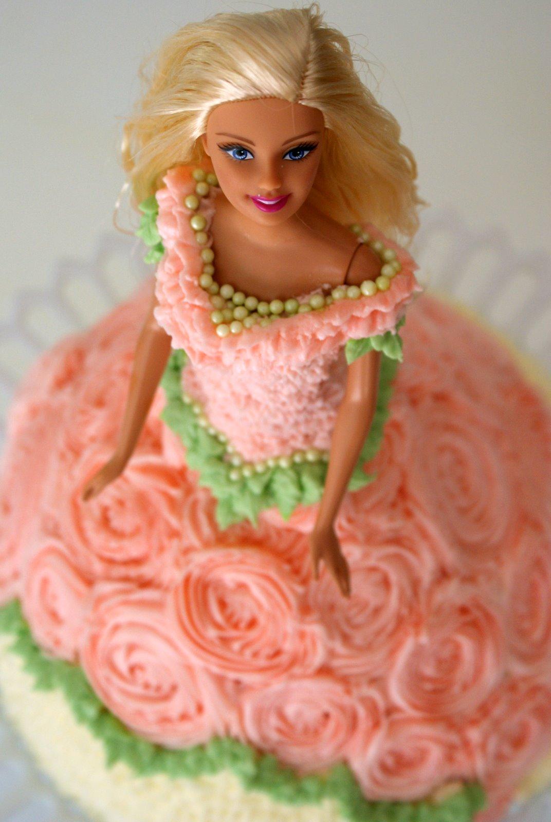 A Little Loveliness Barbie Doll Cake