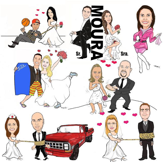 Caricaturas de Noivos