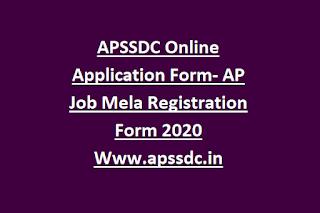 APSSDC Online Application Form- AP Job Mela Registration Form 2020 Www.apssdc.in