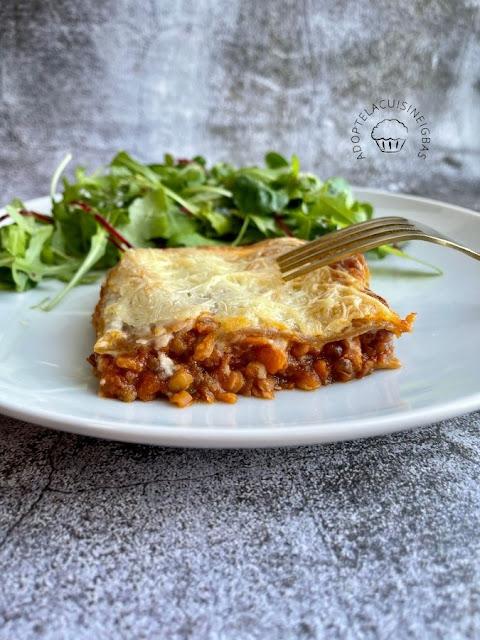 Lasagnes bolognaise de lentilles - Recette facile - IG bas