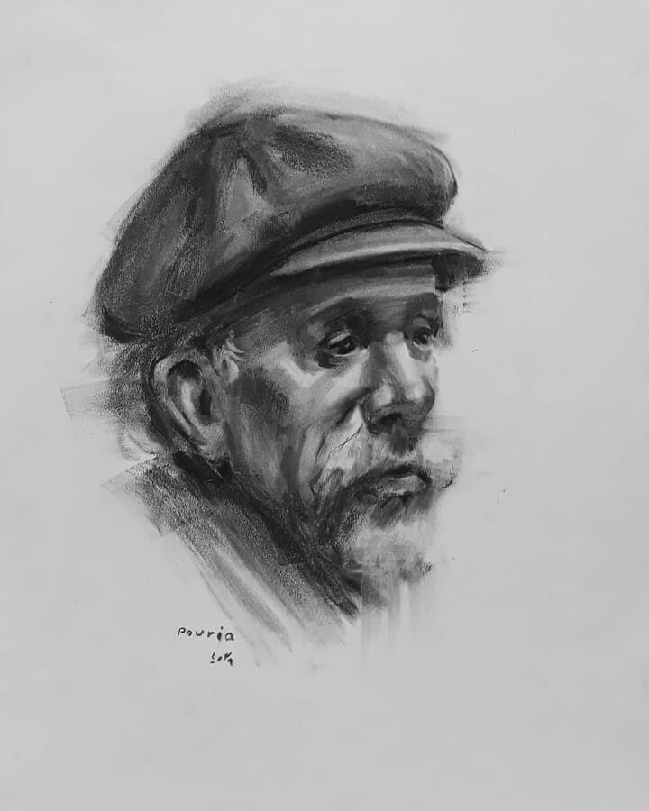 15-Portrait Drawings Pourianahaei-www-designstack-co