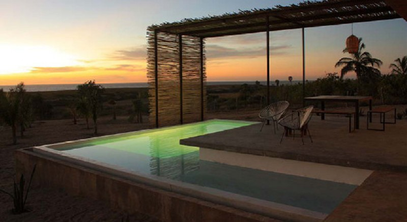Pink Leaf Villa Exotic Beach House Design In Beachfront