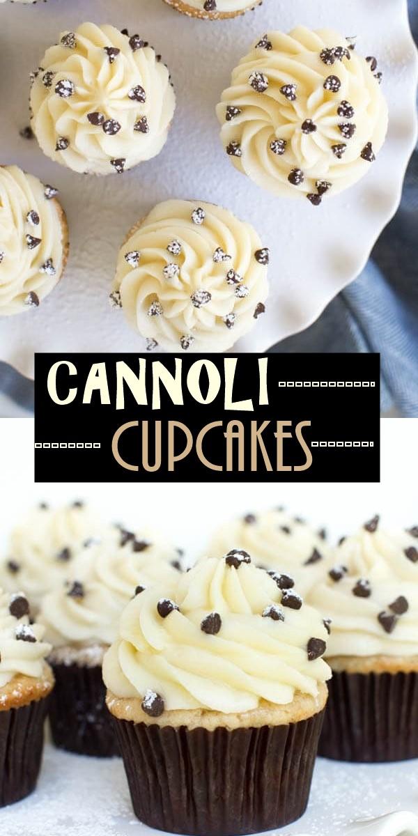 CANNOLI CUPCAKES #cupcakerecipes