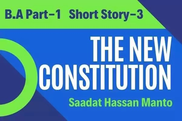 The New Constitution Short Story