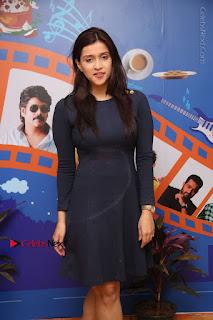 Actress Mannara Chopra Stills in Blue Short Dress at Rogue Song Launch at Radio City 91.1 FM  0036.jpg