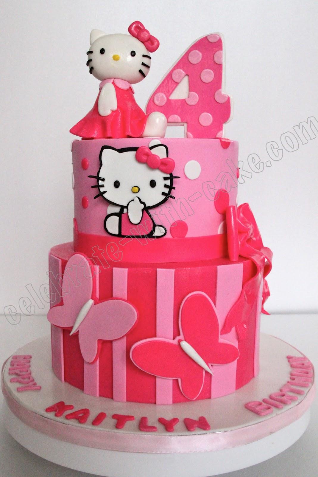 Torta Kitty On Pinterest Hello Kitty Hello Kitty Cake