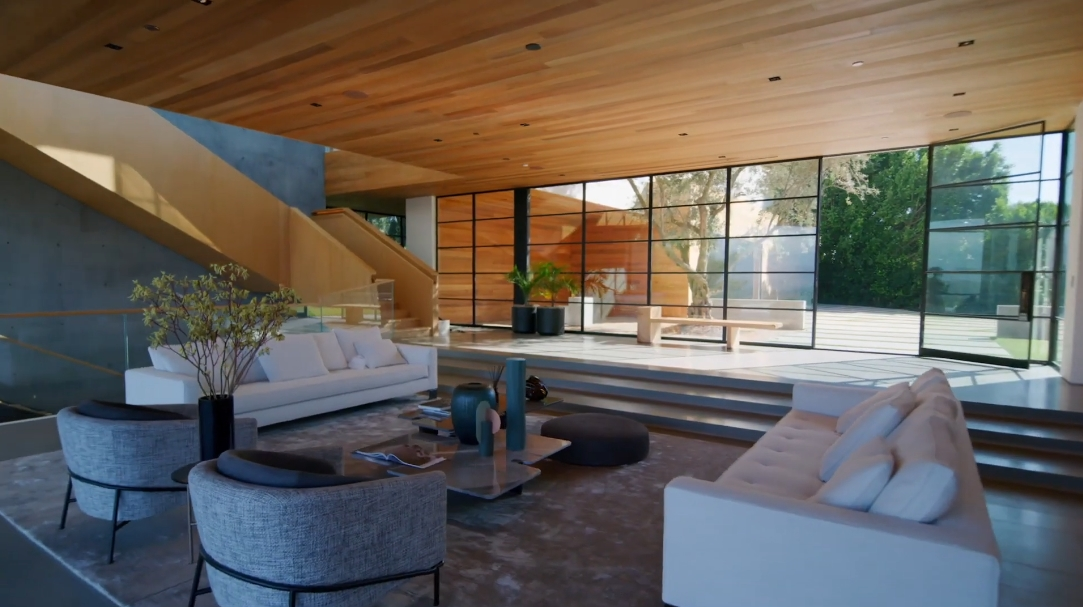 47 Interior Design Photos vs. 1966 Carla Ridge, Beverly Hills, CA Ultra Luxury Mega Mansion Tour