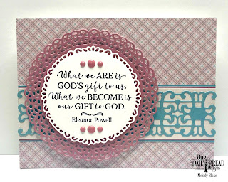 Our Daily Bread Designs Stamp Set: God Quotes 2, Custom Dies: Fancy Circles, Trellis, Paper Collection: Shabby Pastels