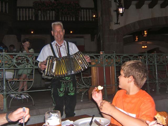 German man playing music