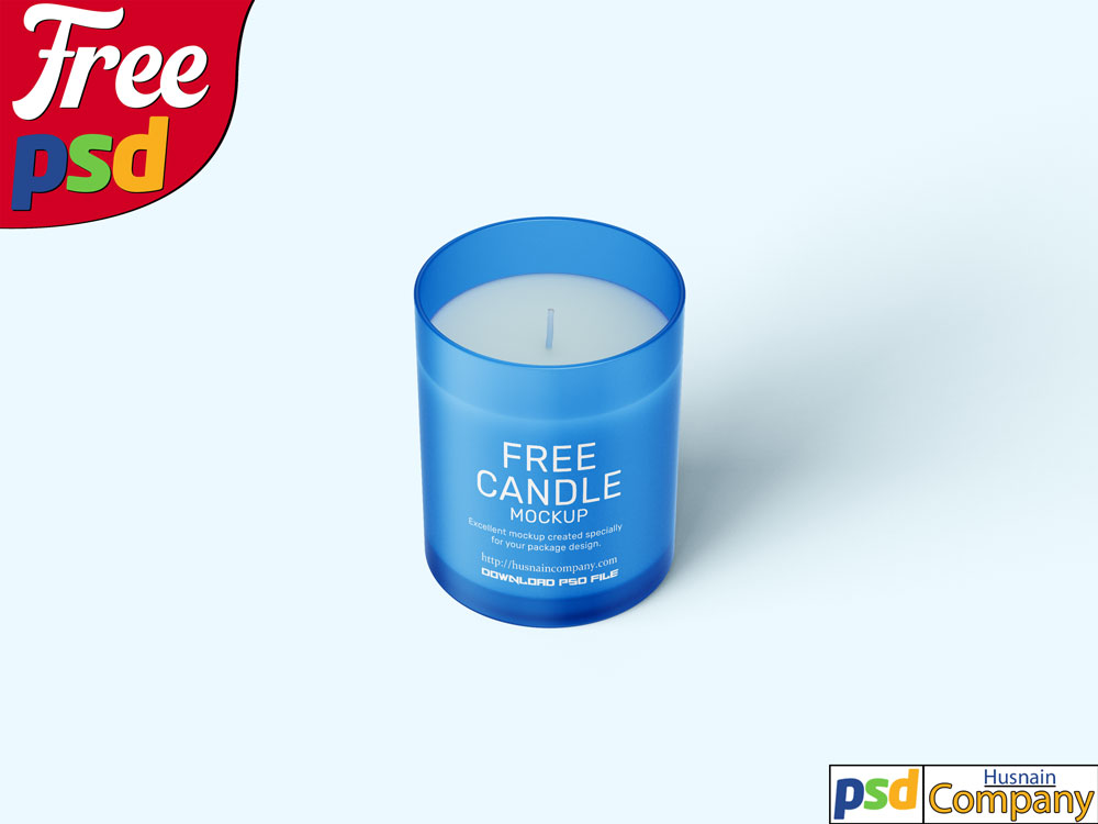 Download Free Candle PSD Mockup #6