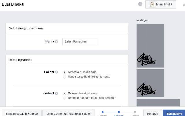 cara buat bingkai facebook sendiri online
