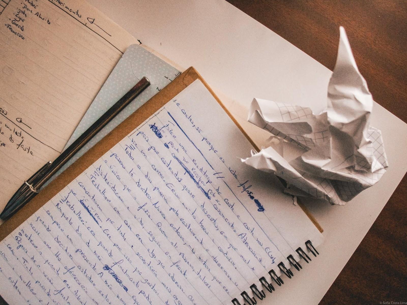Coisas nas quais não pensar enquanto escrevemos.