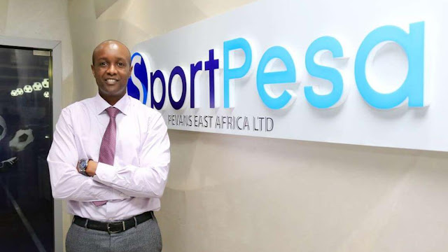 Sportpesa ceo Ronald Karauri photo at Pevans East Africa