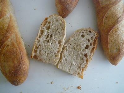 Barras de pan con prefermento