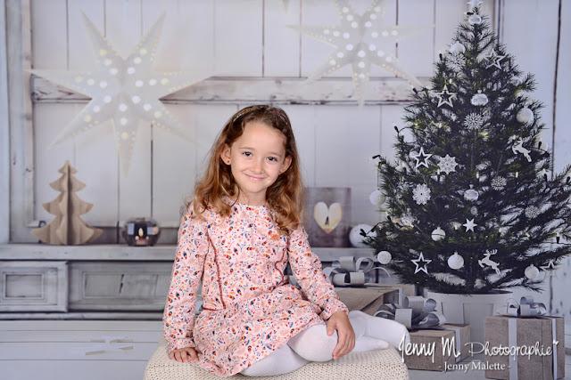 séance photos studio avec déco de Noël, noel 2019