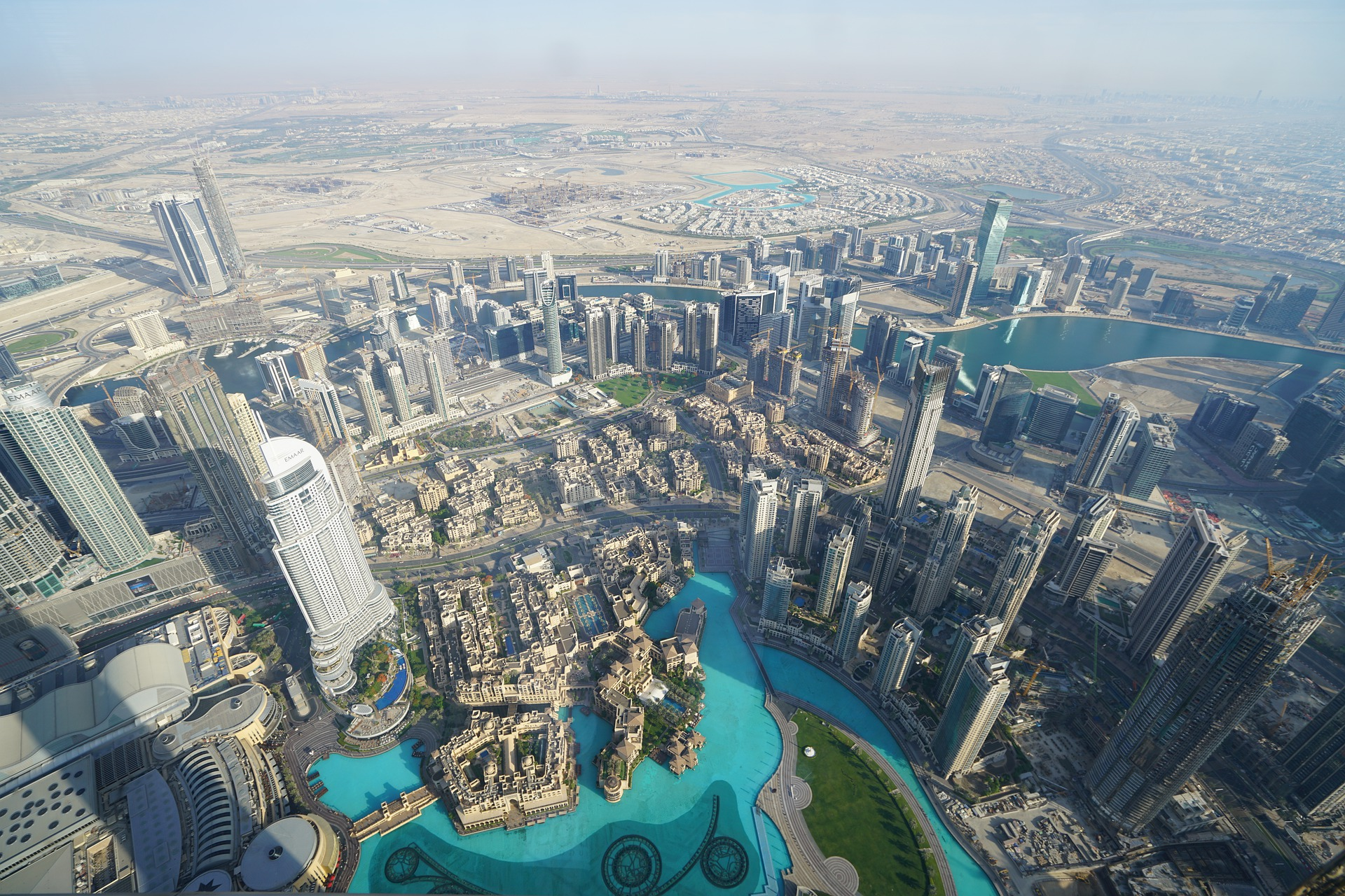 View from the highest point in the Burj Khalifa