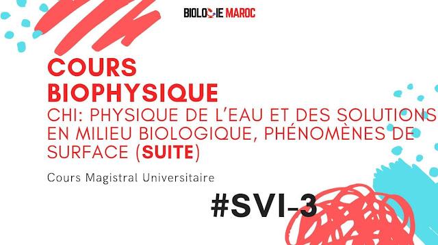 Cours de Biophysique SVI S3 -La viscosité du sang, Osmolarité, Solubilité...