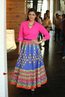 Actress Mannar Chopra in Pink Top and Blue Skirt at Rogue movie Interview  0119.JPG