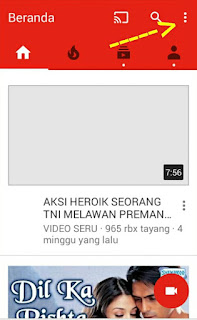 Cara Memblokir video YouTube di Android langkah pertama
