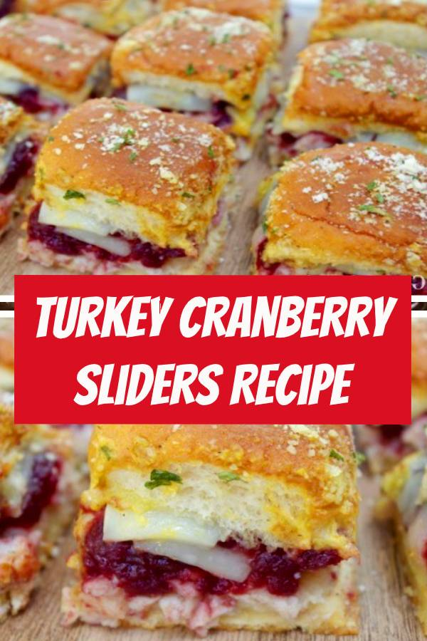Have lots of Thanksgiving leftovers? Try these super easy and delicious Turkey Cranberry Sliders for a quick post Thanksgiving meal. #thanksgiving #thanksgivingrecipes #thanksgivingleftovers #recipe #recipes #sliders #appetizers